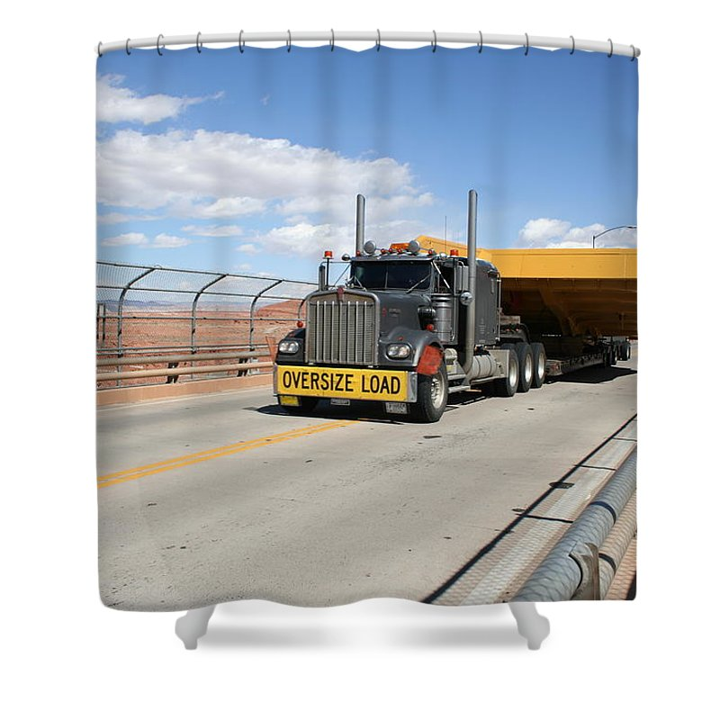 Truck Shower Curtain featuring the photograph Bear Load by Christiane Schulze Art And Photography