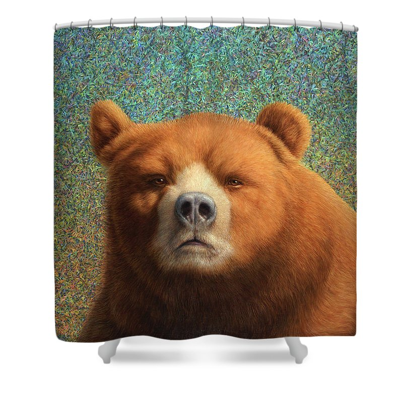 Bear Shower Curtain featuring the painting Bearish by James W Johnson
