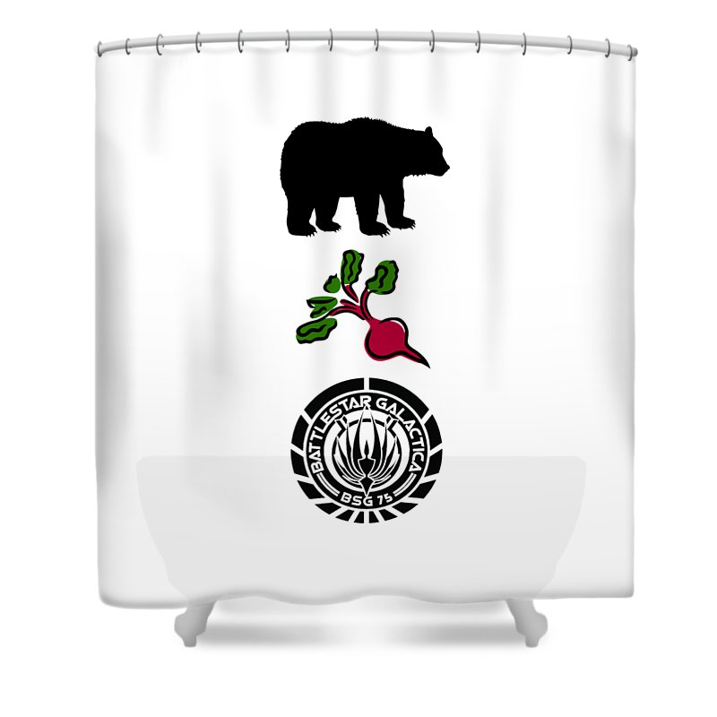 Bears Beets Battlestar Galactica Shower Curtain For Sale By Zoe Brittle