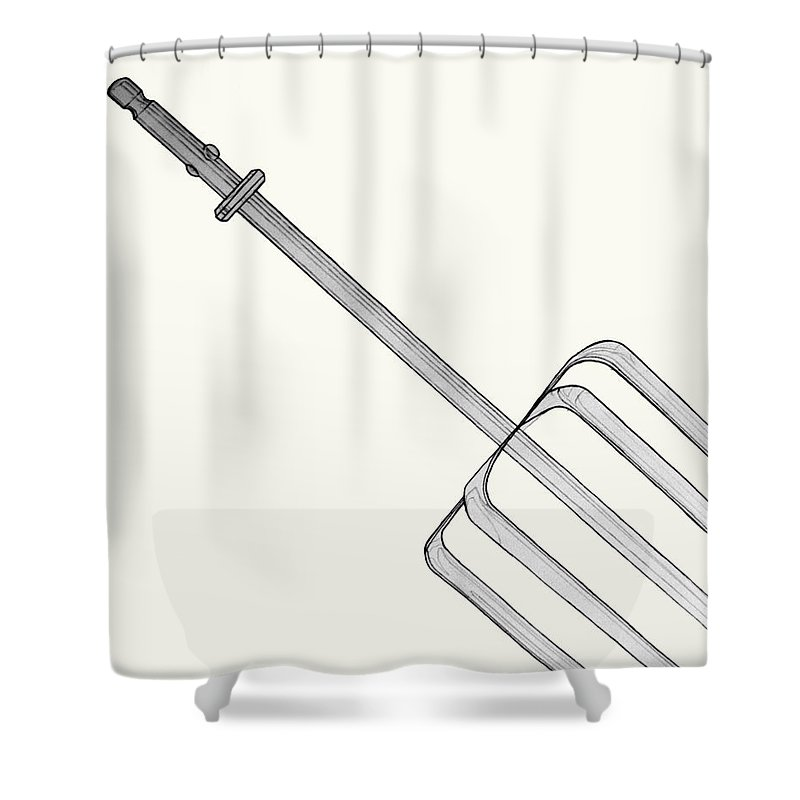 Beater Shower Curtain featuring the drawing Beat It by Jean Haynes