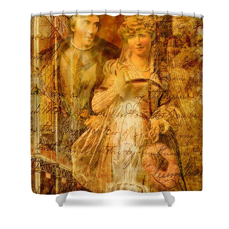 Beatrice Shower Curtain featuring the digital art Beatrice And Benedick by Sarah Vernon