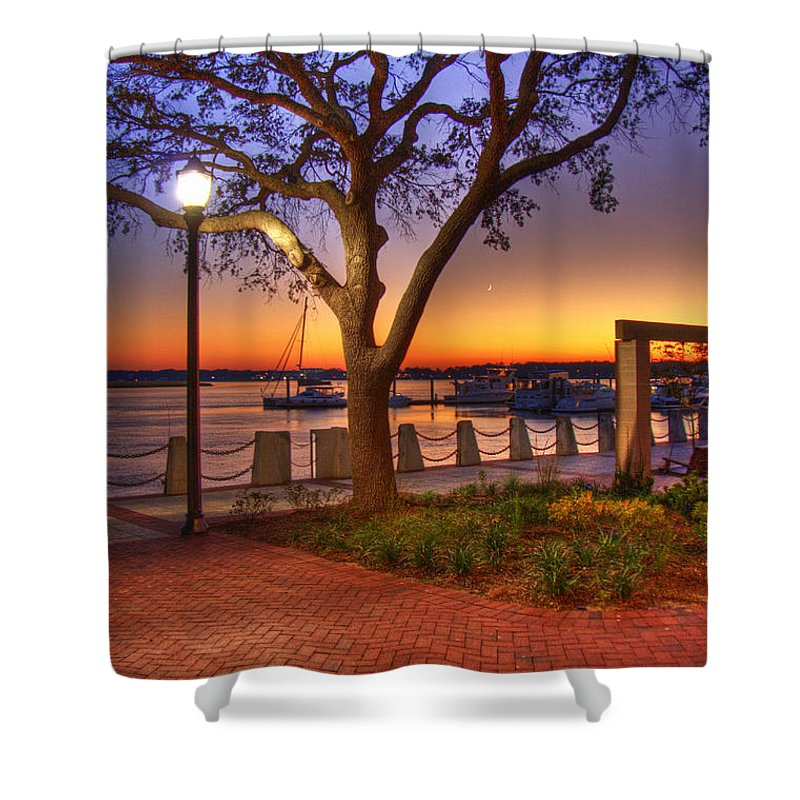 Park Shower Curtain featuring the photograph Beaufort Waterfront by Ches Black