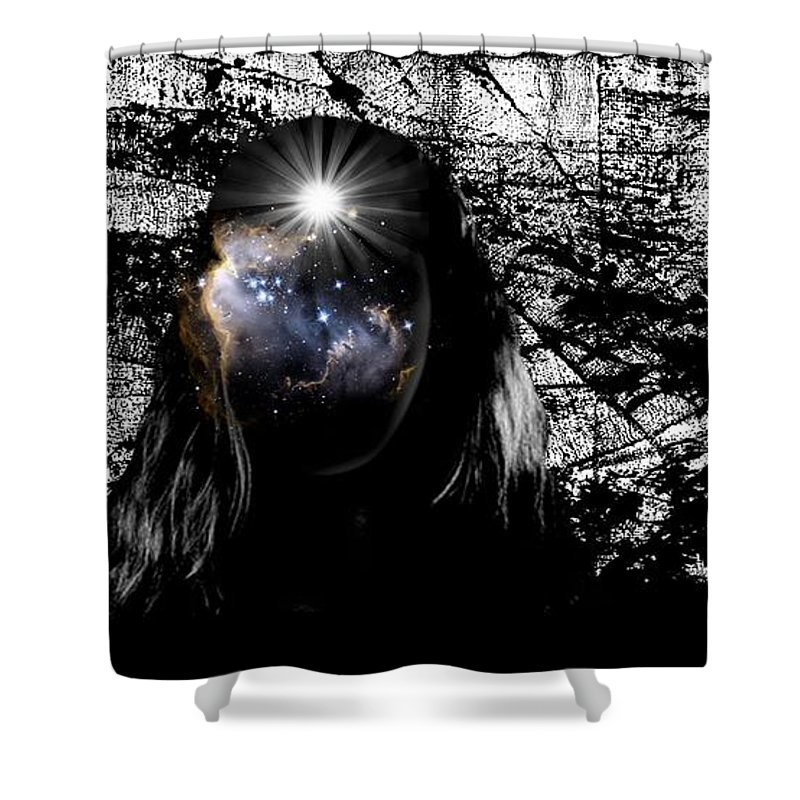 Beauty Shower Curtain featuring the digital art Beauties Are Things That Are Lit Inside Us by Paulo Zerbato