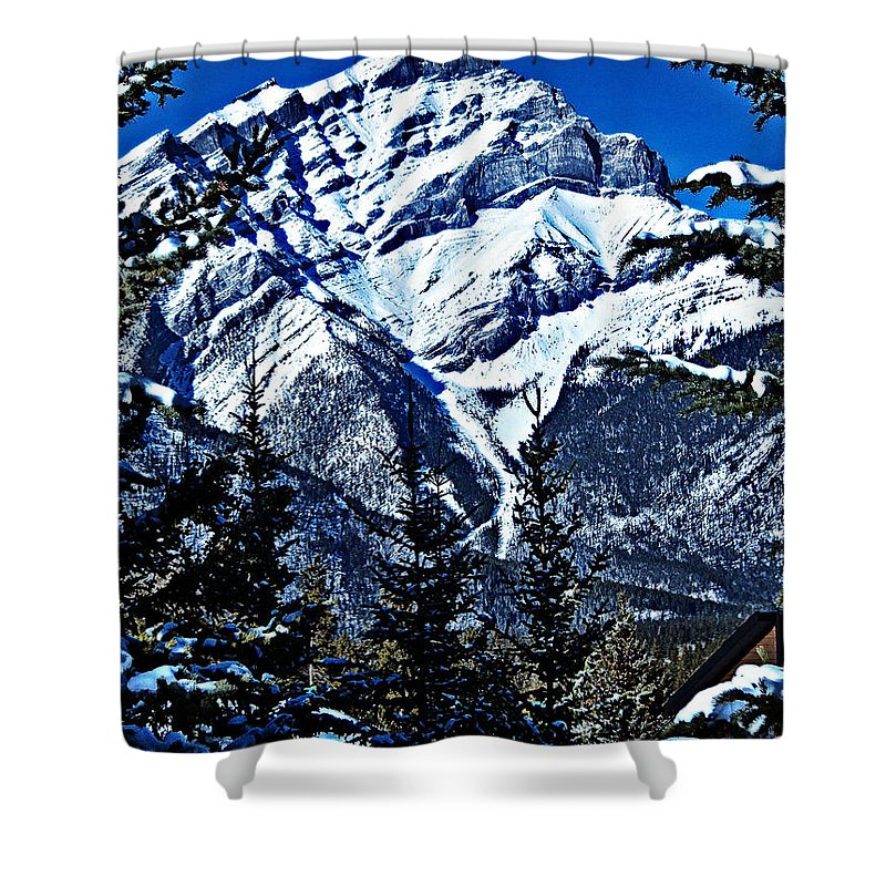Banff Shower Curtain featuring the photograph Beautiful Banff by Jo-Anne Gazo-McKim