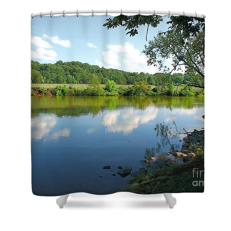 Landscape Shower Curtain featuring the photograph Beautiful Blue Water by Todd A Blanchard