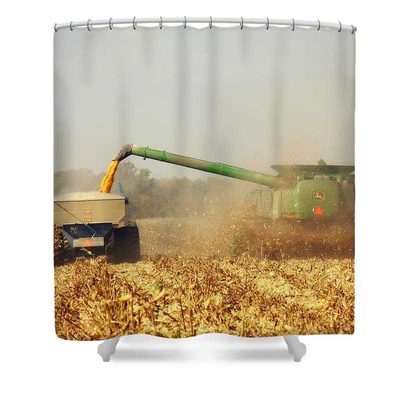 Corn Harvest Shower Curtain featuring the photograph Beautiful Corn Harvest by Goldie Pierce