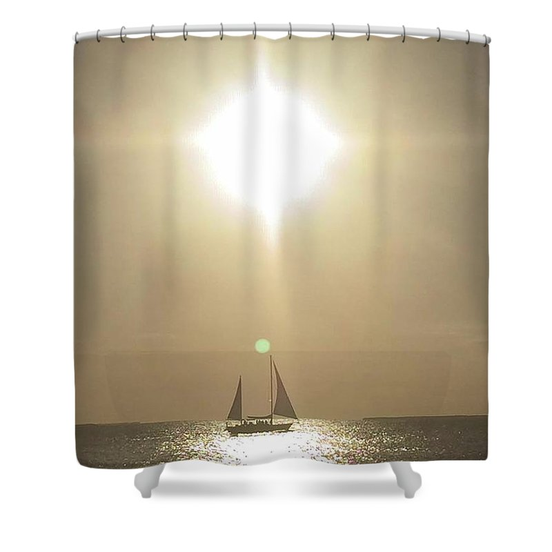 Sailboat Shower Curtain featuring the photograph Beautiful Day by Jonathan Bottomley