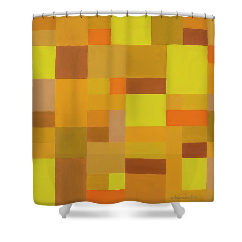 Beautiful Earth Shower Curtain featuring the painting Beautiful Earth by Adamantini Feng shui