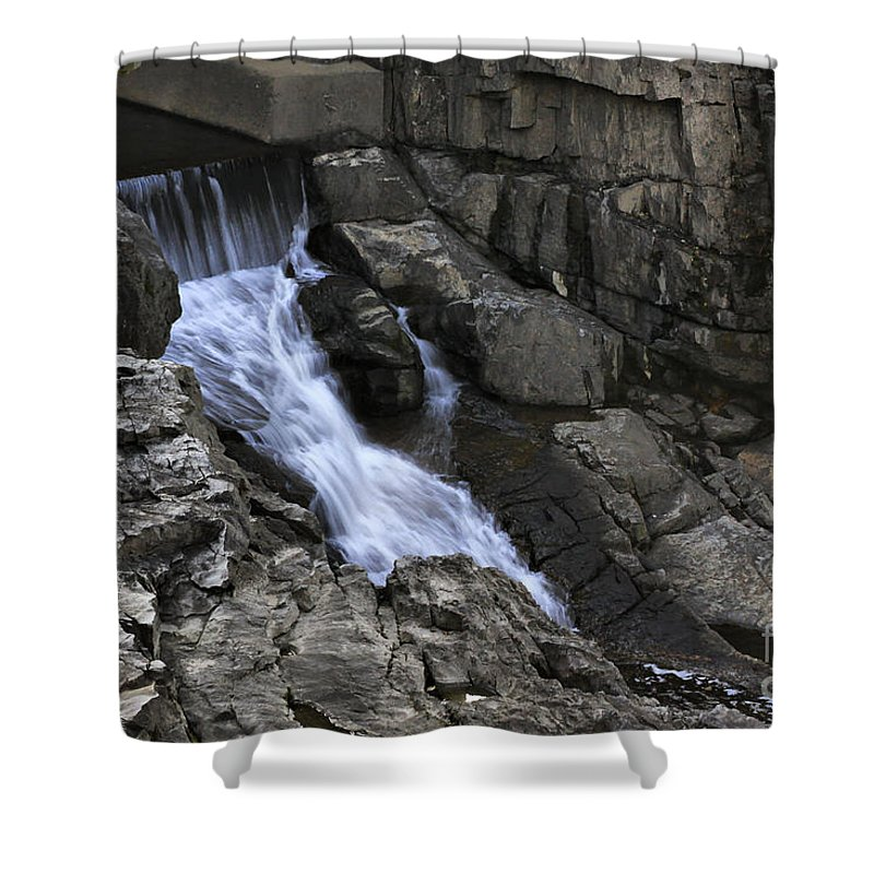 Water Shower Curtain featuring the photograph Beautiful Flow Of Power by Deborah Benoit