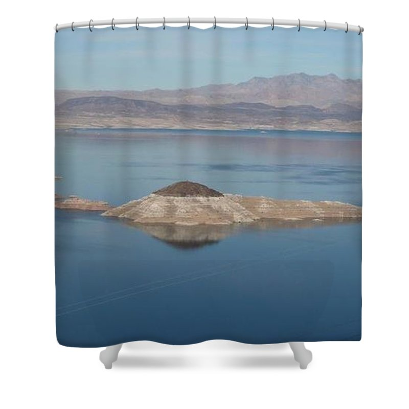 Nature Shower Curtain featuring the photograph Beautiful Lake Mead by Barb Montanye Meseroll