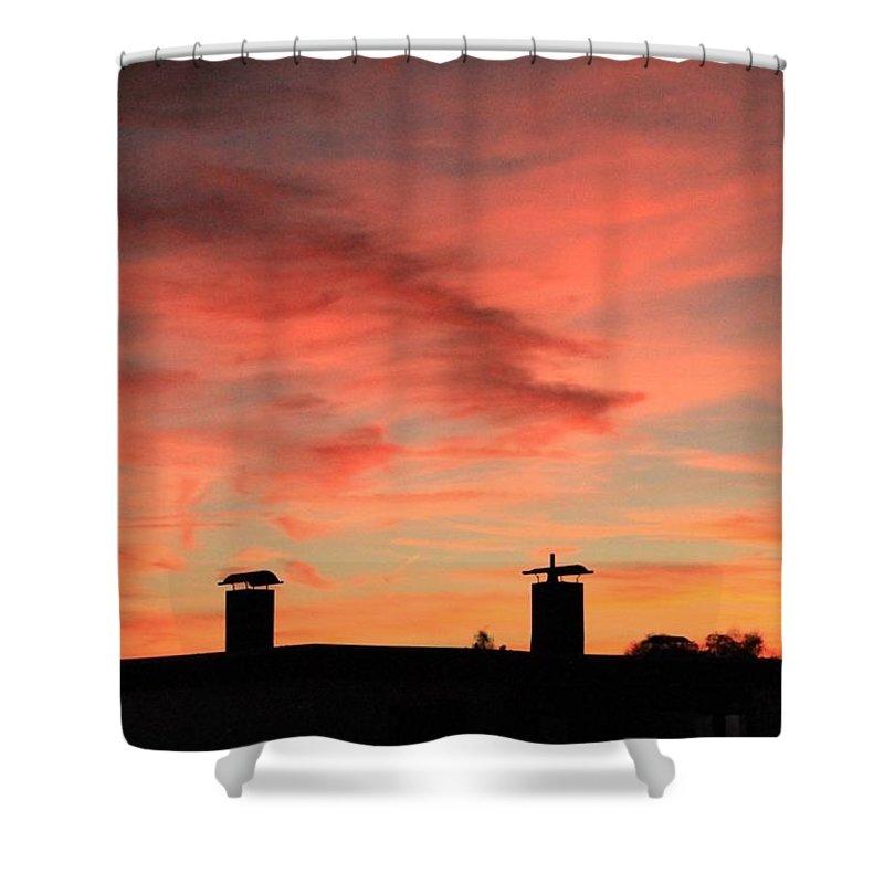 Shower Curtain featuring the photograph Beautiful Sky by Lara Webler