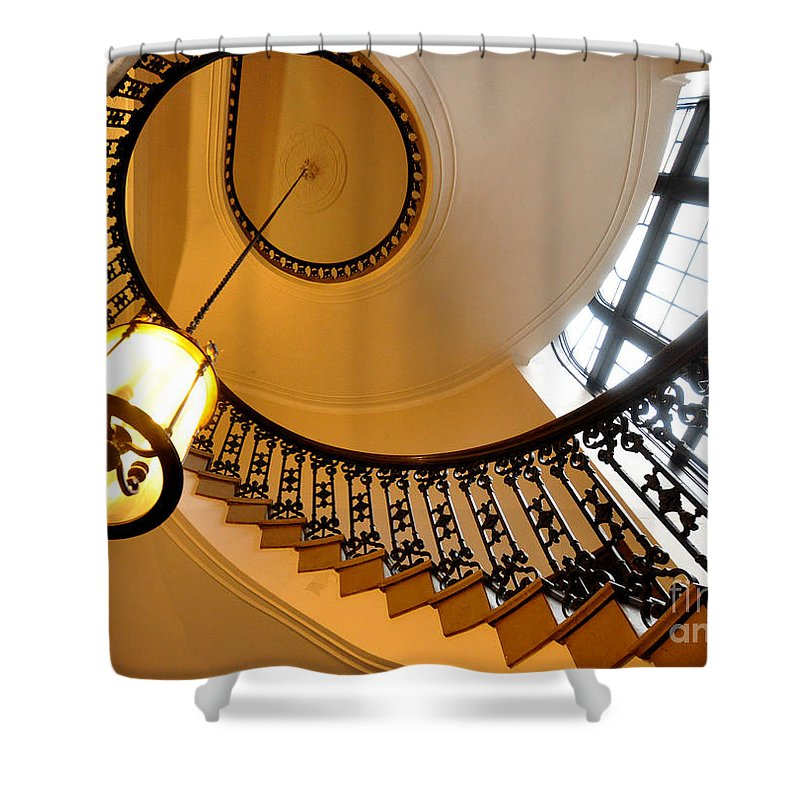 Dearborn City Hall Shower Curtain featuring the photograph Beautiful Stairway by Chris Fleming