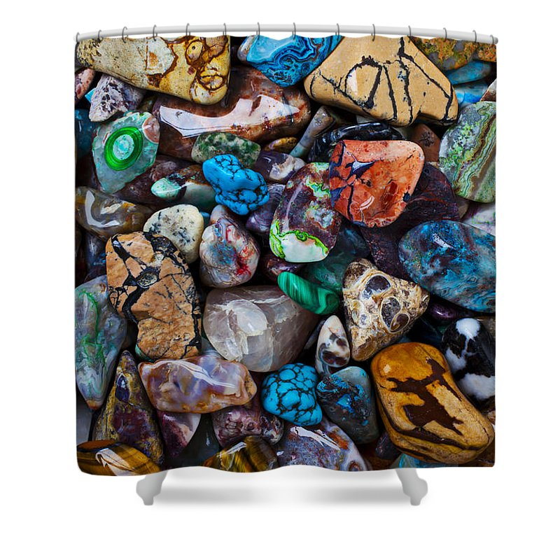 Stone Shower Curtain featuring the photograph Beautiful Stones by Garry Gay