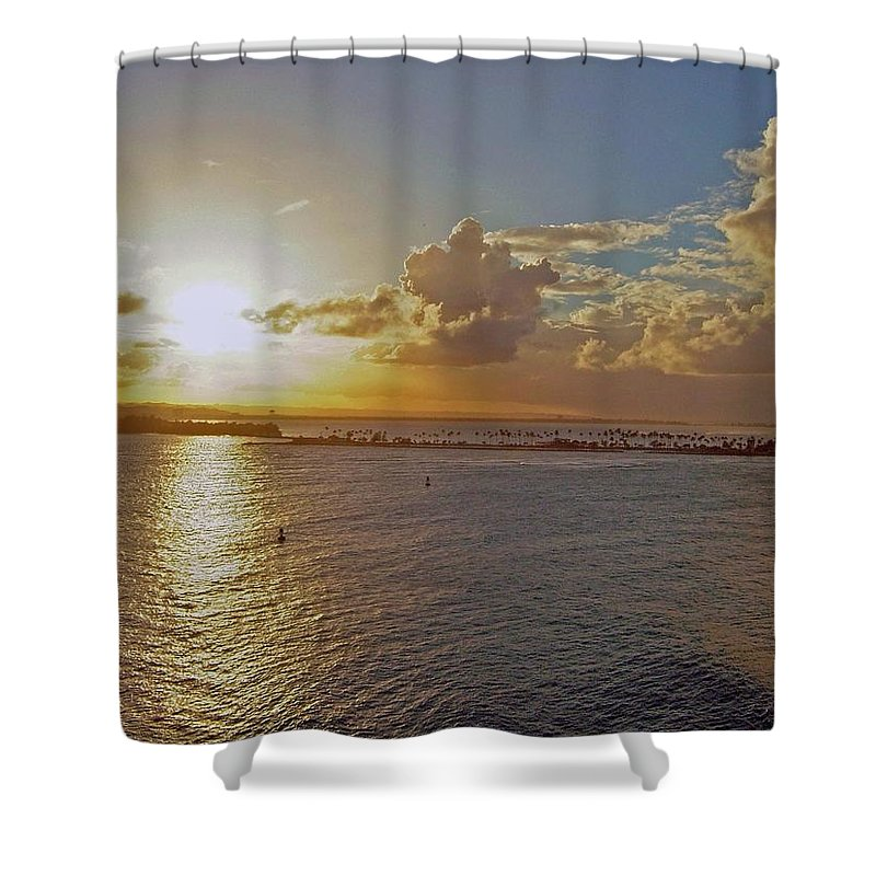 Sunset Shower Curtain featuring the photograph Beautiful Sunset by Gary Wonning