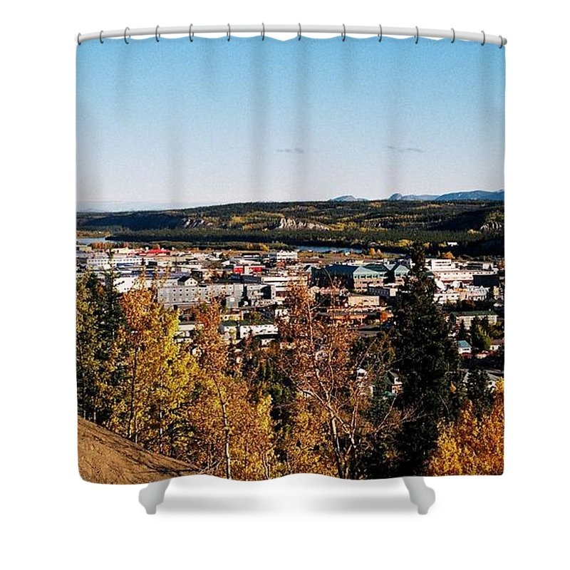 North America Shower Curtain featuring the photograph Beautiful Whitehorse ... by Juergen Weiss