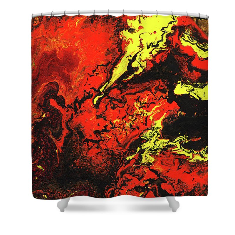 Abstract Shower Curtain Featuring The Painting Beauty And Beast
