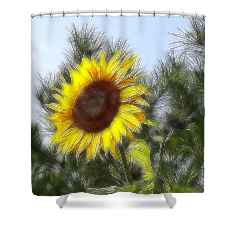 Fratalius Shower Curtain featuring the photograph Beauty In The Pines by Deborah Benoit