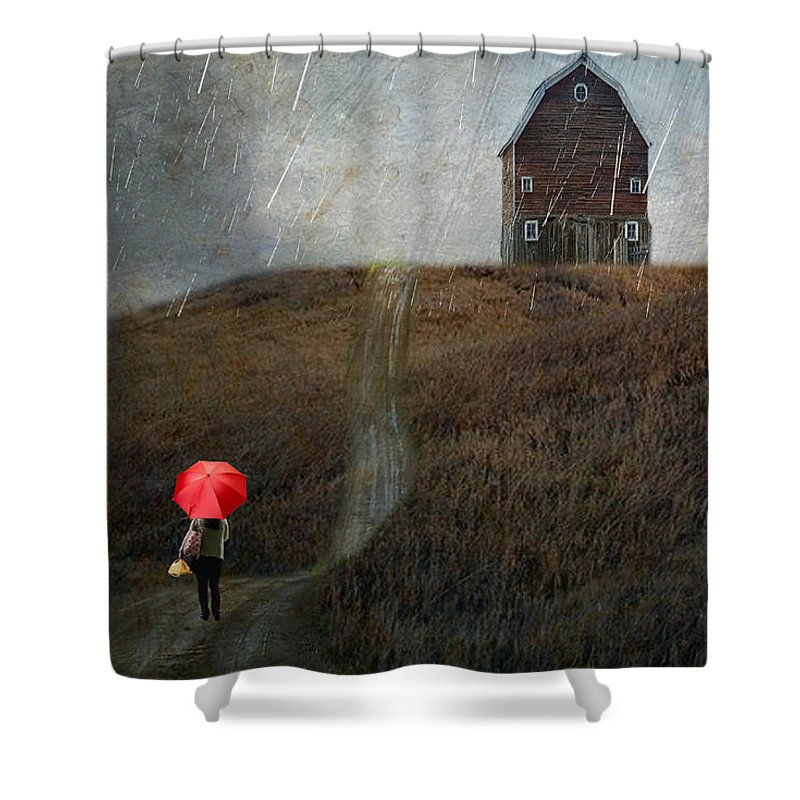 Rain Shower Curtain Featuring The Photograph Beauty In Silver By AJ Yoder