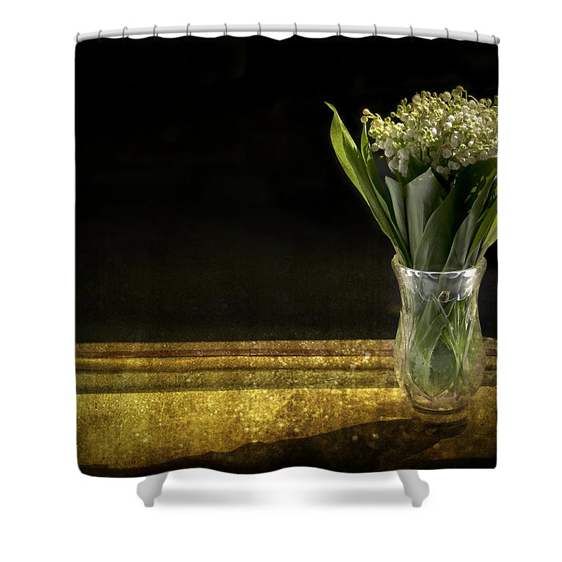 Vase Of Flowers Photographs Shower Curtains