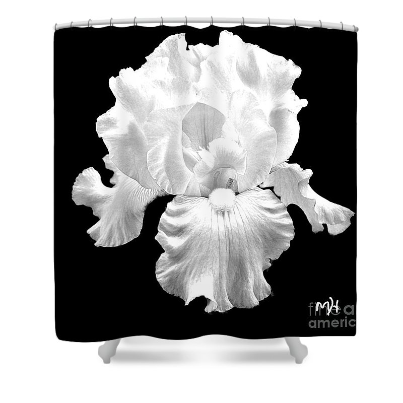 Photo Shower Curtain featuring the photograph Beauty Queen In Black And White by Marsha Heiken