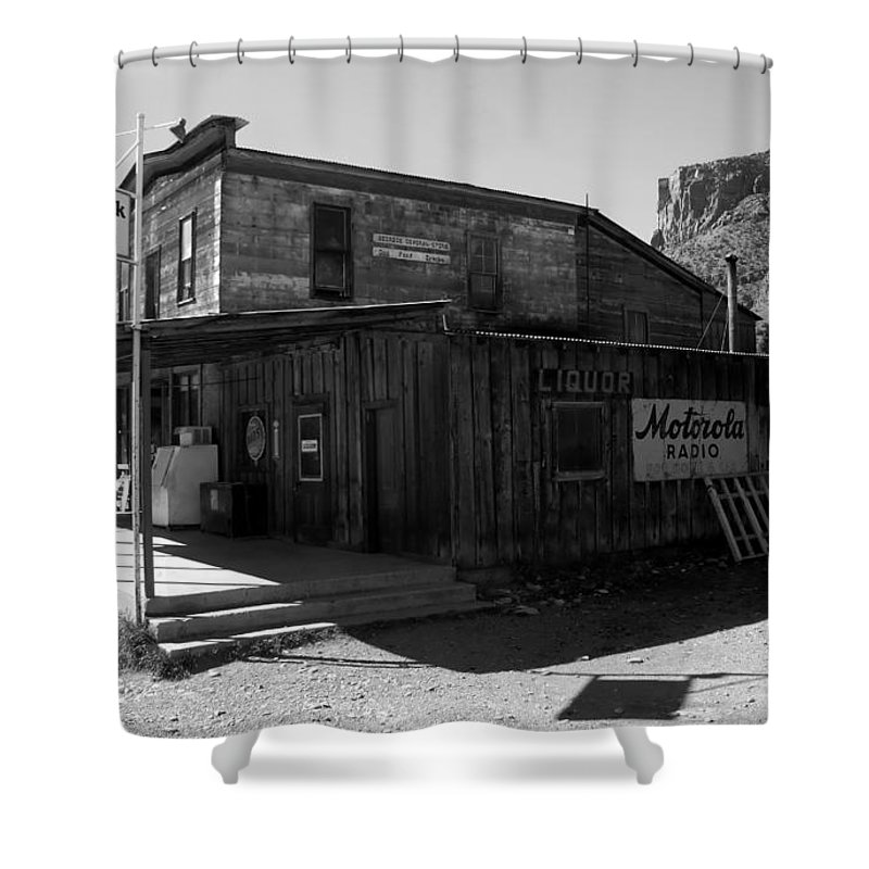 Bedrock Colorado Shower Curtain featuring the photograph Bedrock Store 1881 by David Lee Thompson