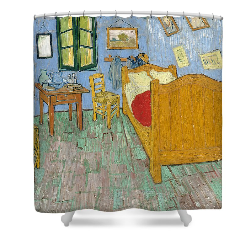 Bedroom At Arles Shower Curtain featuring the painting Bedroom At Arles by Van Gogh