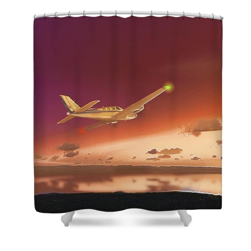 Beechcraft Baron 58 3 Shower Curtain