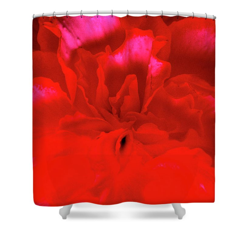 Begonia Shower Curtain featuring the photograph Begonia by Paul W Faust - Impressions of Light