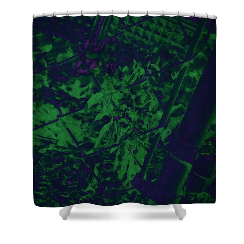 Garden Shower Curtain featuring the photograph Behind The Fence by Amanda Kessel