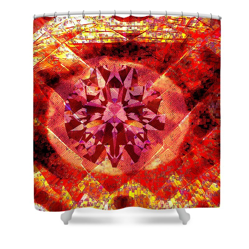 Abstract Shower Curtain featuring the photograph Behold The Jeweled Eye Of Blood by Seth Weaver