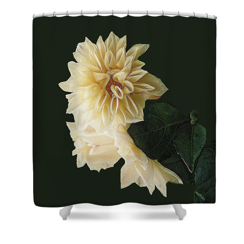 Beige Shower Curtain featuring the digital art Beige Bold And Beautiful by RC DeWinter