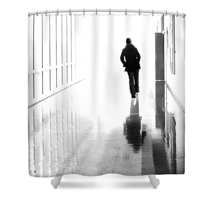 Dipasquale Shower Curtain featuring the photograph Being Alone Doesnt Mean Youre Free by Dana DiPasquale