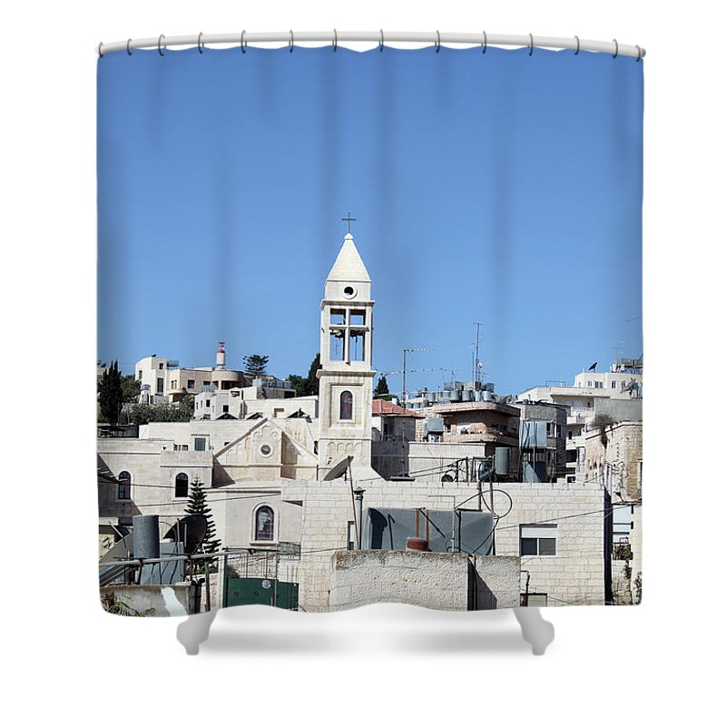 Beit Shower Curtain featuring the photograph Beit Jala Christian Town by Munir Alawi