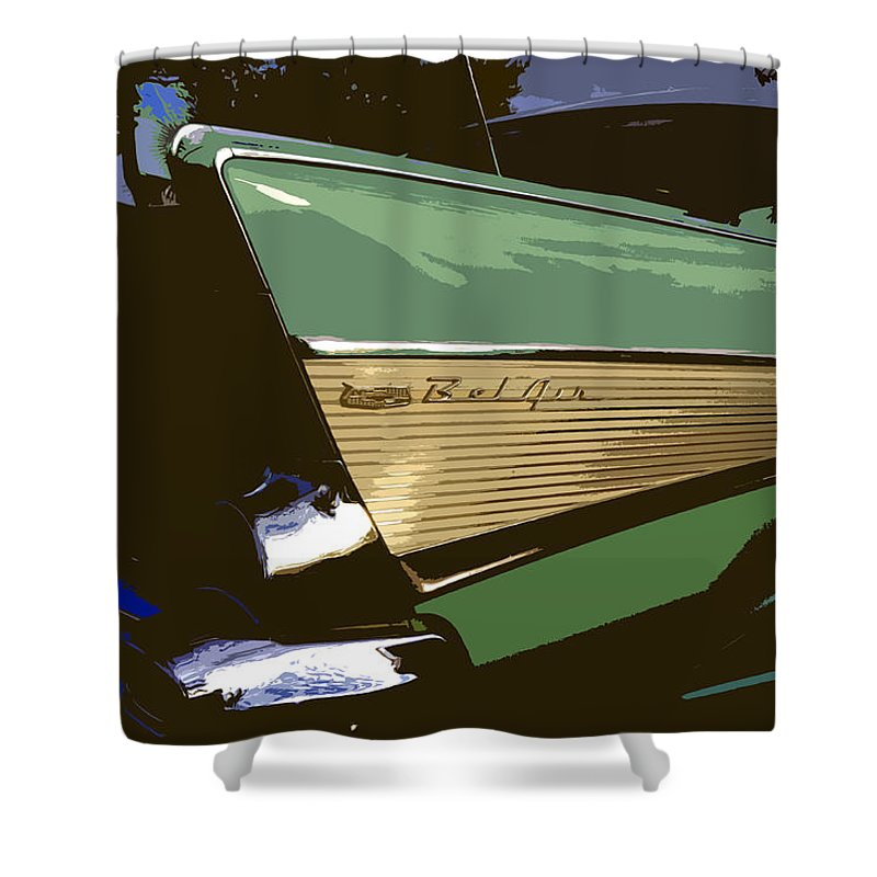 Chevy Shower Curtain featuring the painting Belair by David Lee Thompson