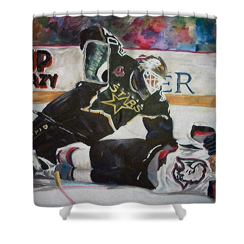 Belfour Shower Curtain featuring the painting Belfour by Travis Day