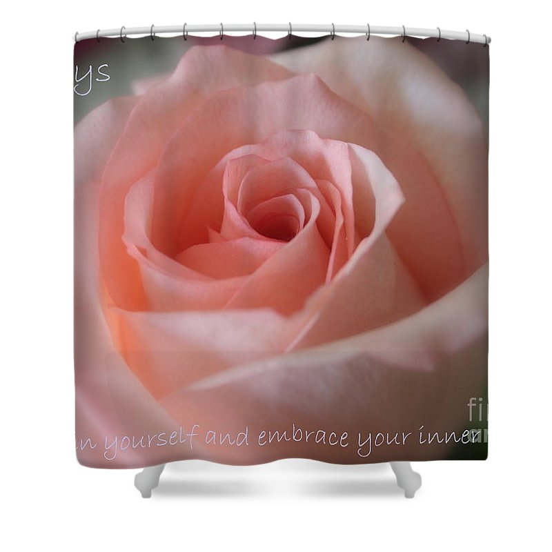 Inner Beauty Shower Curtain featuring the photograph Believe In Yourself Card Or Poster by Carol Groenen