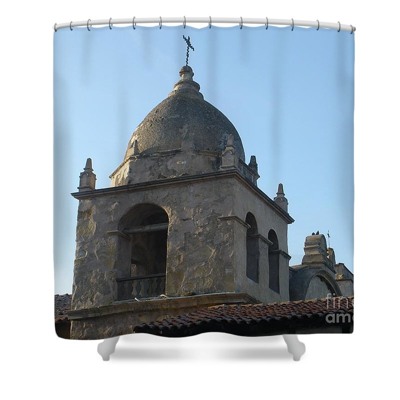 Church Shower Curtain featuring the photograph Bell Tower by Jeanie Watson