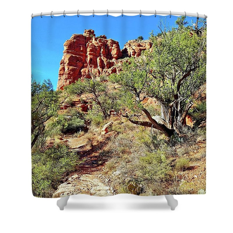 Bell Shower Curtain featuring the photograph Bell Trail by Bonny Puckett