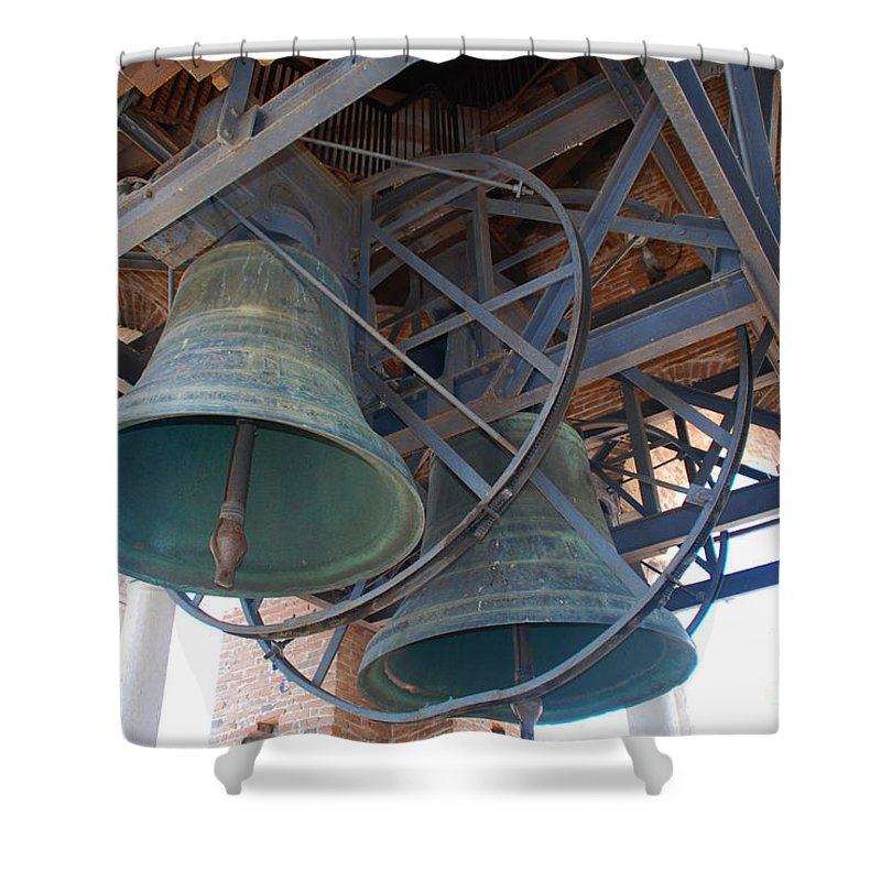Verona Shower Curtain featuring the photograph Bells Of Torre Dei Lamberti - Verona Italy by Just Eclectic