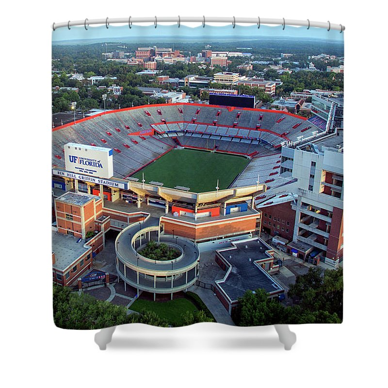 release info on edda9 b5363 Ben Hill Griffin Stadium - Home Of The U Of Florida Gators Football Team  Shower Curtain