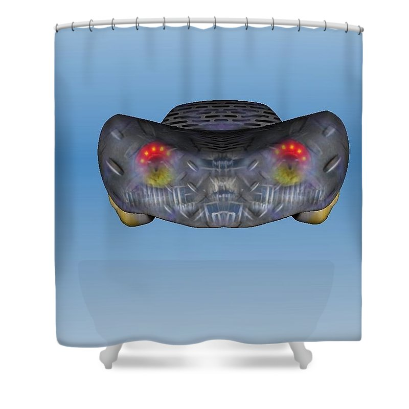 Car Shower Curtain featuring the painting Bencar by Richard Benson