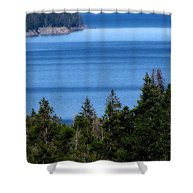 Patzer Shower Curtain featuring the photograph Bend In Columbia by Greg Patzer