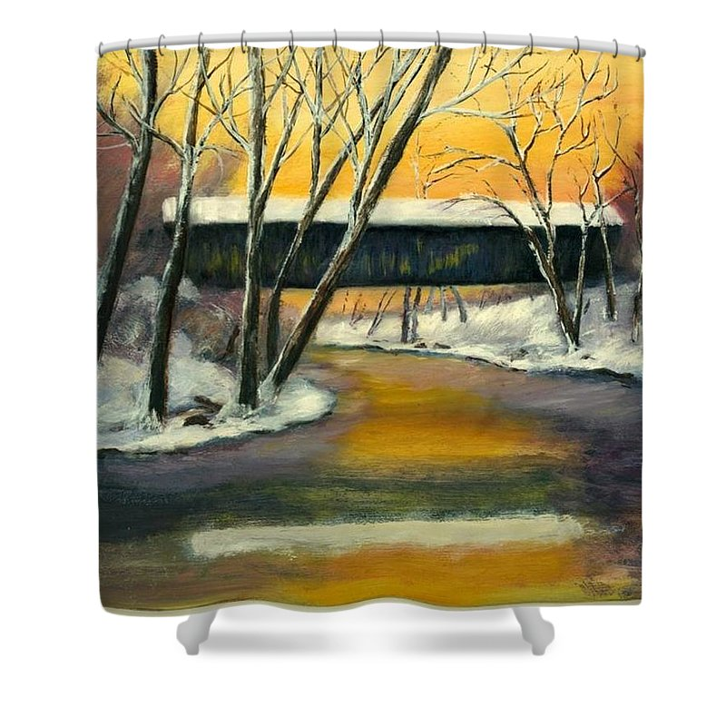 Kentucky Shower Curtain featuring the painting Bennett by Gail Kirtz