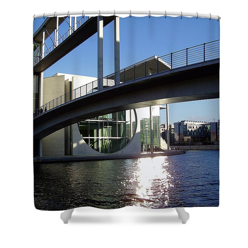 Marie-elisabeth-lueders Shower Curtain featuring the photograph Berlin by Flavia Westerwelle