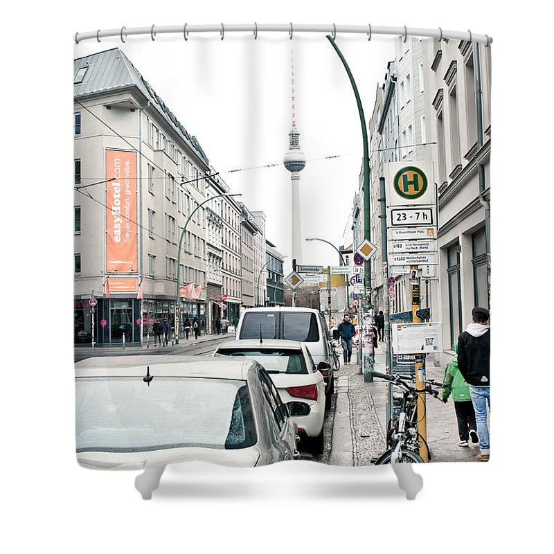Tv Tower Shower Curtains