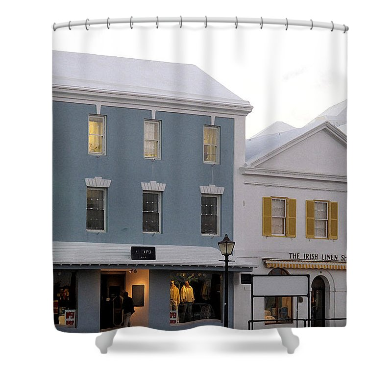 Bermuda Shower Curtain featuring the photograph Bermuda Front Street Two by Ian MacDonald
