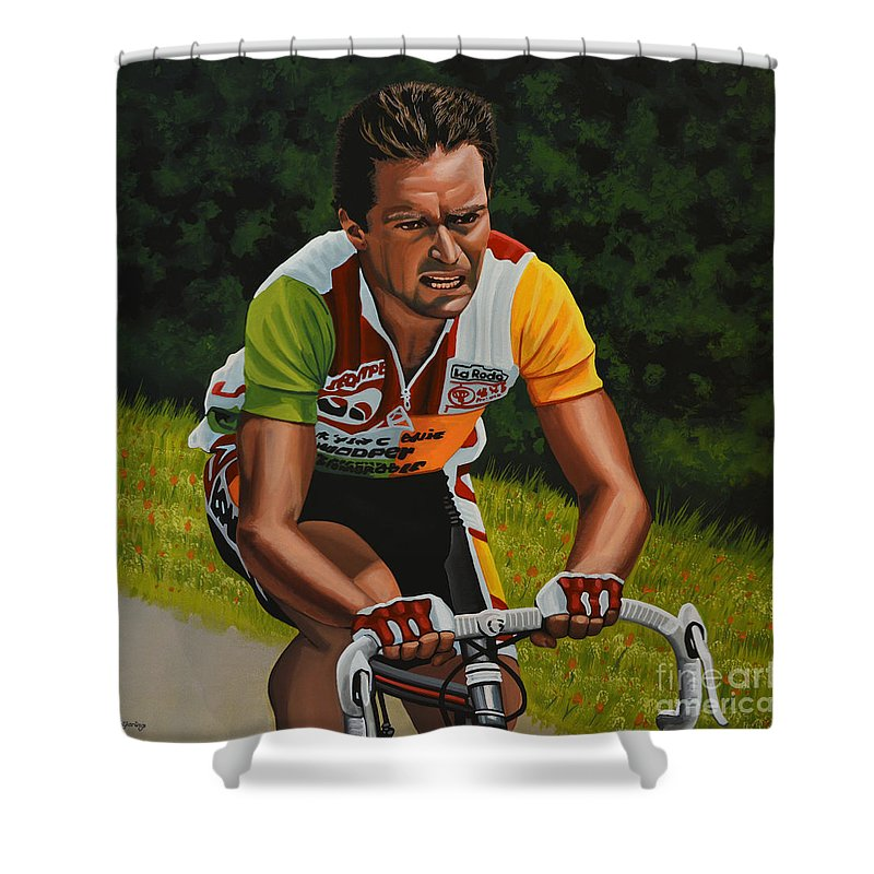 Cyclist Shower Curtains