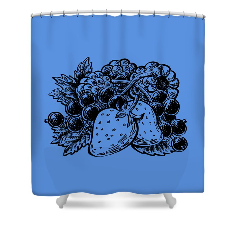 Forest Berries Shower Curtain featuring the painting Berries From Forest by Irina Sztukowski