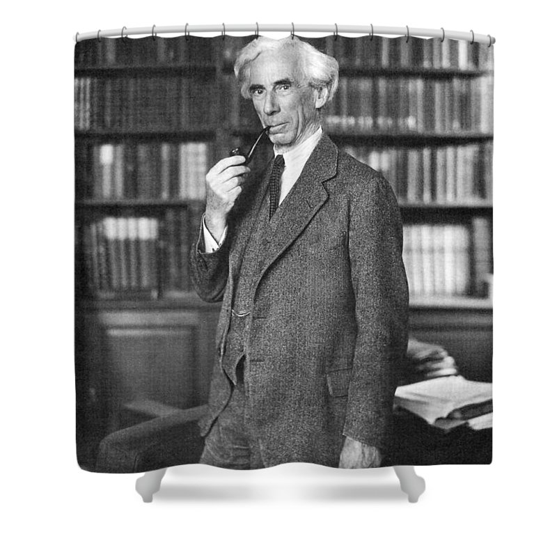 1935 Shower Curtain featuring the photograph Bertrand Russell by Granger