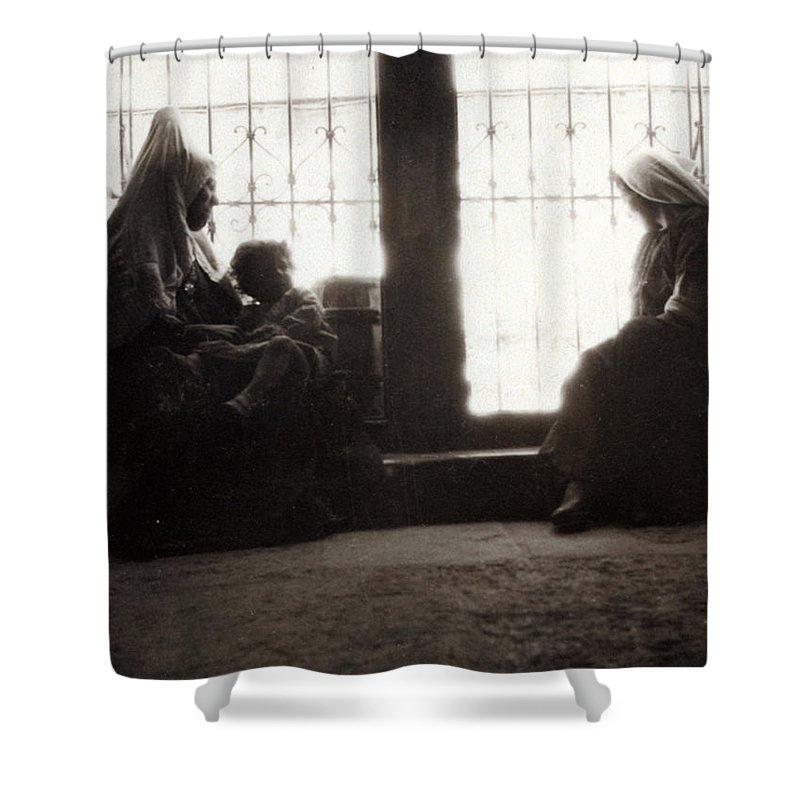 Bethlehem Shower Curtain featuring the photograph Bethlehemites At Home by Munir Alawi